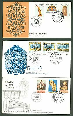 FDC AN62 Brazil 1979/80 9v Art Christmas