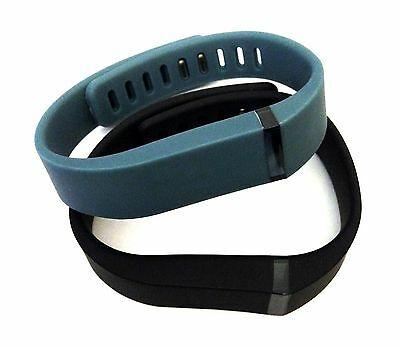 Large 1pc Black 1pc Slate Band With Clasps For Fitbit Flex Bracelet /No Tracker