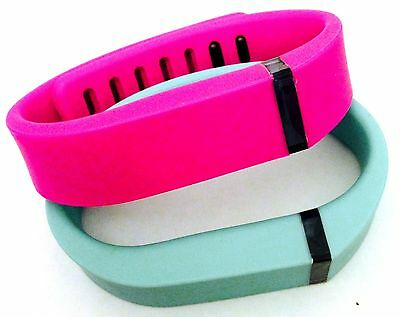 Small S 1 Purple / Pink 1 Teal Bands For Fitbit Flex Bracelet Band /No Tracker