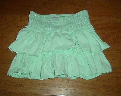 JUSTICE Light Green Ruffle Skort, Girl's Size 12