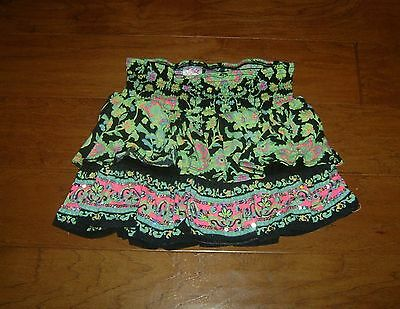 JUSTICE Black & Green Ruffle Skort, Girl's Size 14