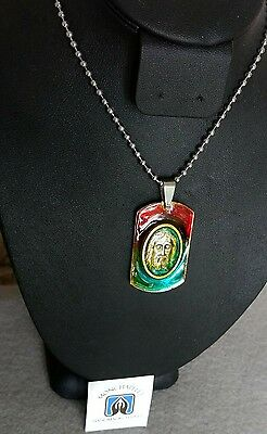 Holy Face Jesus pendant stainless / collier medaille Ste Suaire