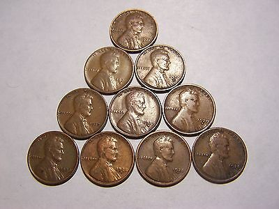 10-Lincoln Wheats 1928 1928-D 1928-S 1929 1929-D 1929-S 1930 1930-D 1930-S 1931
