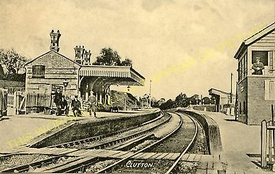 Clutton Railway Station Photo. Pensford - Hallatrow. Bristol to Radstock. (17)