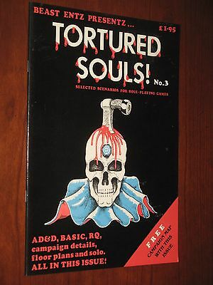Tortured Souls magazine#3 map copy 1984 UK Beast Entz AD&D RuneQuest D&D modules