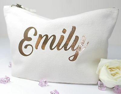 Personalised Make Up/Wash Bag ANY Name Birthday Christmas Gift Present Kids