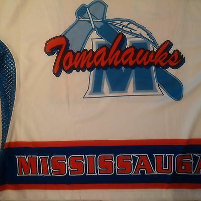 WARRIOR Mississauga Tomahawks Lacrosse Player Jersey #11 - White - Adult M - NEW