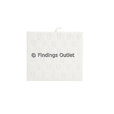 Ring Display 30 Clip  Pad Faux WhiteLeather