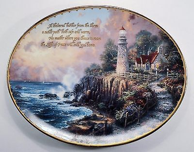 "Thomas Kinkade - ""The Light of Peace"" 1st Issue Guiding Lights Collection Plate"