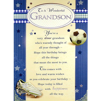 Grandson birthday card to a wonderful grandson lovely happy grandson birthday card to a wonderful grandson lovely happy greetings card bookmarktalkfo Image collections