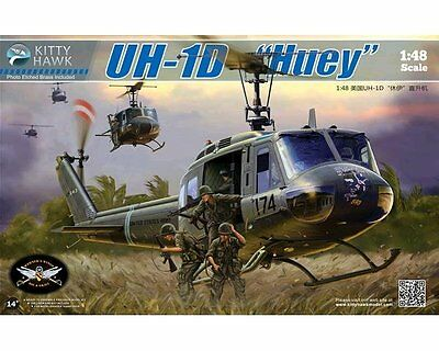 Neuheit ! Kitty Hawk 80154 Bell Uh-1D Huey In 1/48 !