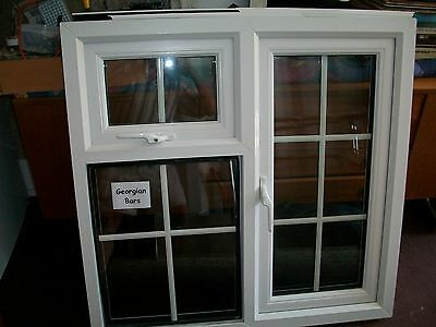 white upvc double glazed window unit (unused)  in excellent condition