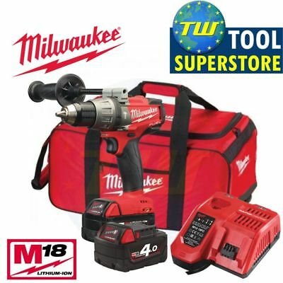 Milwaukee M18FPD-402B FUEL 2 18V BRUSHLESS Combi Drill 2x 4.0Ah Li-ion Batteries