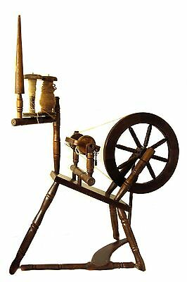 Vintage Spinning Wheel Oak Wood Collectable Craft Equipment