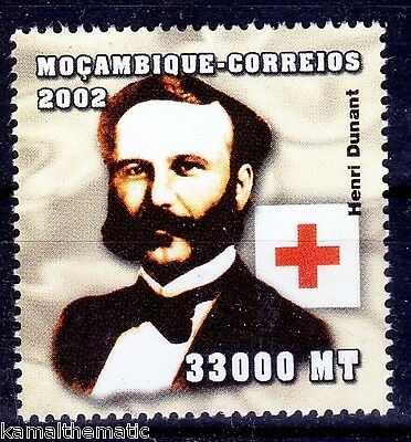 Henry Dunant, Nobel Peace, Red Cross, Mocambique MNH