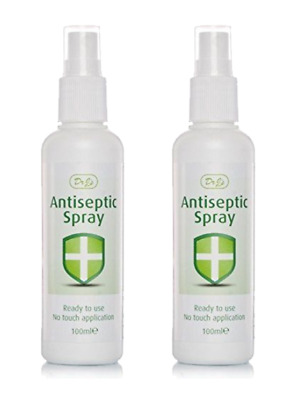2x Dr J's Johnson Antiseptic Spray Ready To Use No Touch Application - 100ml
