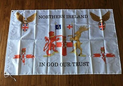 Northern Ireland Coat of arms In God Our Trust  Souvenir Flag 3X5FT
