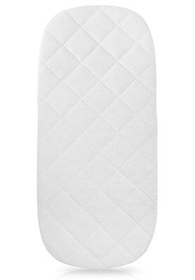 iLuvBamboo Waterproof Bamboo Bassinet Mattress Pad Cover - The Oval Shape - x -