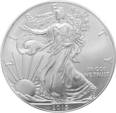 2013 Silver American Eagle -- Brilliant,  Gem Bu Un-Circulated