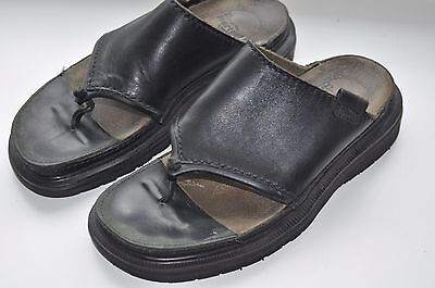 Dr Martens Black Leather Vintage Slip On Shoes/Sandals Size UK 5/EU 38  Womens