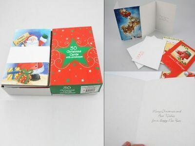 300 x Christmas cards with envelopes 25 designs 6 boxes of 50  wholesale lot
