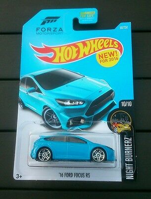 Hot wheels 16 ford focus RS blue forza motorsport New sealed long card