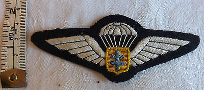 Military Free French Special Forces Airborne Wings Badge Bataillion de choc 1295