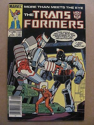 Transformers #7 Marvel Comics 1984 Series Canadian Newsstand $1.00 Price Variant