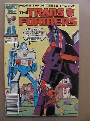 Transformers #20 Marvel Comics 1984 Series Newsstand Edition