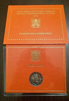 2 euro 2016 Vaticano Giubileo della Misericordia Mercy folder official BU