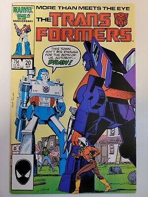Transformers #20 Marvel Comics 1984 Series 9.2 Near Mint-