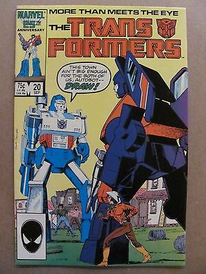 Transformers #20 Marvel Comics 1984 Series