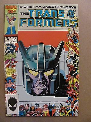 Transformers #22 Marvel Comics 1984 Series