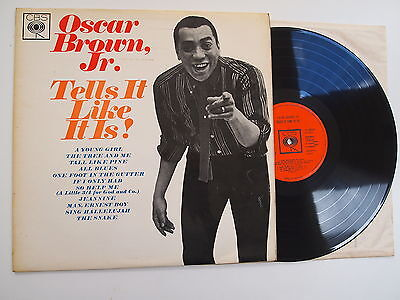 OSCAR BROWN JR - TELLS IT LIKE IT IS LP VINYL Rare UK Mono 1st Press 60s R&B