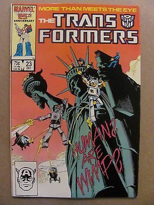 Transformers #23 Marvel Comics 1984 Series