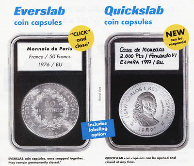Lighthouse Quickslab Coin Holders--Pack of 5--SLAB18,18mm--CAN BE RE-OPENED!!