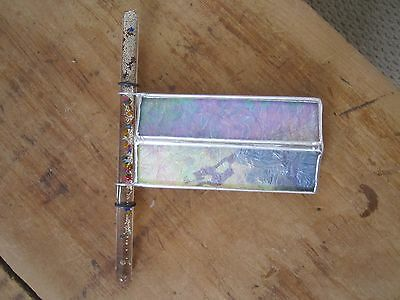 Vintage Kaleidoscope Stained Glass Moon Tube Oil Wand Space