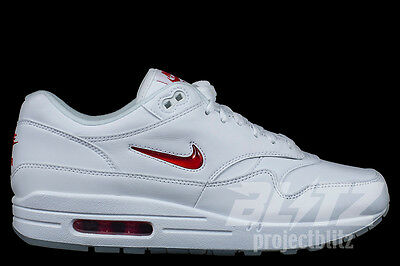 NIKE AIR MAX 1 PREMIUM SC JEWEL Size 8-13 WHITE UNIVERSITY RED 918354-104