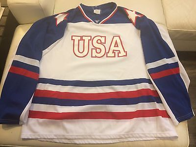 1980 Team USA  Miracle On Ice Hockey Jersey New No Tags XXL Athletic Knit 1980