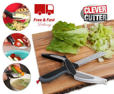 Clever Cutter 2-in-1 Knife & Cutting Board Scissors As Seen On TV - FREE UK POST