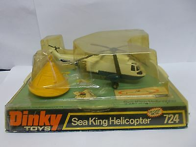 dinky 724 us navey sea king helicopter boxed vintage 1975