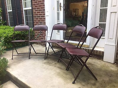"Vintage Metal Industrial Folding Chairs GayLo Chicago Steampunk 31"" x 18"" x 18"""