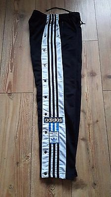 Retro Vintage Original Adidas Poppers D164  Tracksuit Trousers/Bottoms 80s/90s