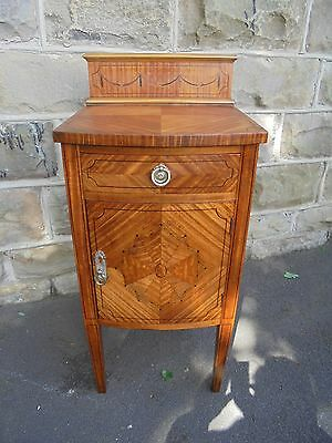 Antique Inlaid Satin Wood Bedside Cabinet