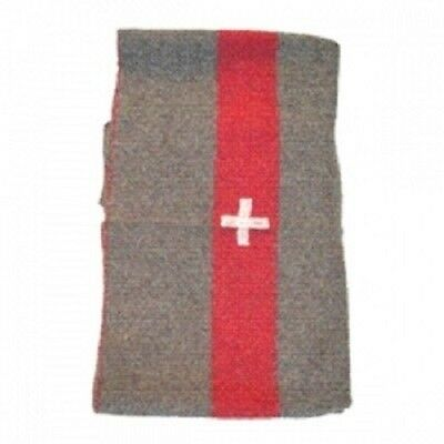 "New Military Style Swiss Blanket 55"" x 75"" With White Cross Stitched Edges"