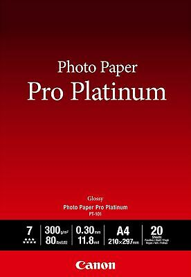 Canon new Photo Paper Pro Platinum A4 (20 Sheets)