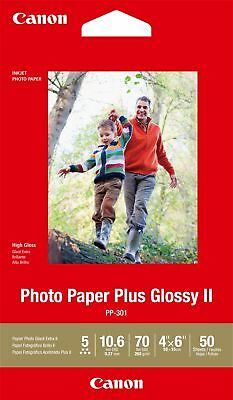 "Canon new Photo Paper Plus Glossy II 4""x6"" (50 Sheets)"
