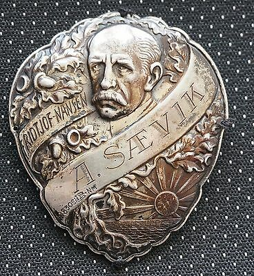 COMMEMORATIVE MEDALS BY SUBJECT Fridtjof Nansen thin Silver Shield A.Saevik