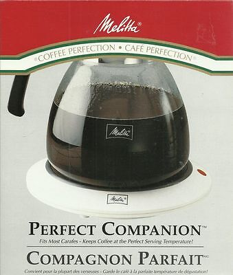 Melitta Coffee Perfection Perfect Companion Electric Carafe Pot Hot Plate Warmer