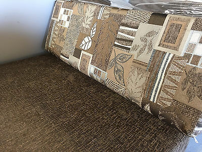 RV  Dinette Booth Cushion Covers Trailer Camper Brown 42 inch